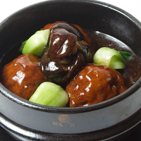 Jumbo Braised Meat Balls with Boy Choy
